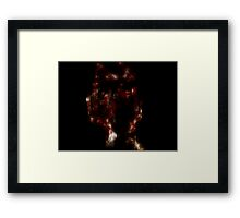 Looking through my bloody hands Framed Print
