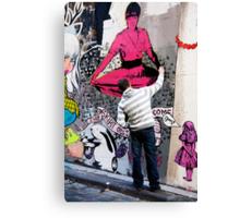 melbourne graffiti Canvas Print