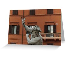 Neptune and the Dove - Fountain of Neptune, Piazza Navona, Rome, Italy Greeting Card