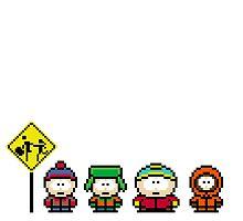 South Park - pixel art by taguzga