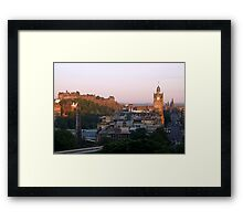 Early Morning In Edinburgh Framed Print