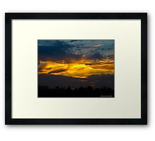 The thunder of colour Framed Print