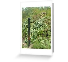 Cutting Weeds Greeting Card