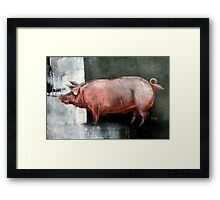 I'm Pink, Therefore I'm Ham Framed Print
