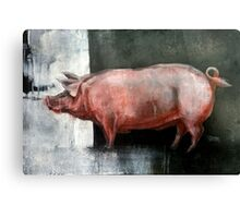 I'm Pink, Therefore I'm Ham Canvas Print