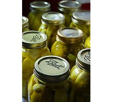 Canning Pickles Photographic Print