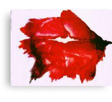 Smeared lipstick Canvas Print