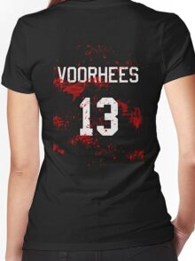Jason Voorhees Jersey Women's Fitted V-Neck T-Shirt