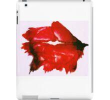 Smeared lipstick iPad Case/Skin