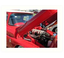 V8 Fifties Chevrolet Ute. Hot Rod show. Kingscliff Nth. N.S.W.  Art Print