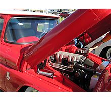 V8 Fifties Chevrolet Ute. Hot Rod show. Kingscliff Nth. N.S.W.  Photographic Print