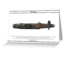 Lancaster GB 75 Squadron 1 Greeting Card