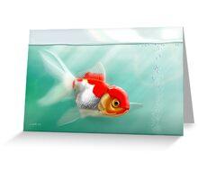 Goldfish Red Cap Greeting Card