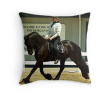 Floating Trot Throw Pillow