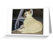 RELAXING KAYLEE Greeting Card