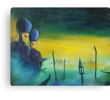 two masks in venice  Canvas Print