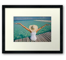 Woman and the Sea Framed Print