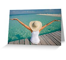 Woman and the Sea Greeting Card