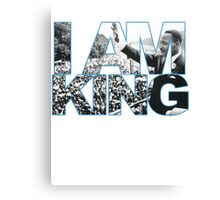I AM KING Jordan 7 flint grey Canvas Print