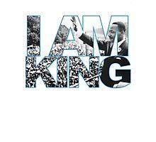 I AM KING Jordan 7 flint grey Photographic Print