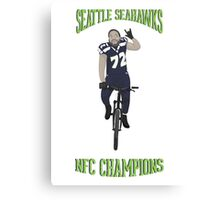 Michael Bennett Does a Victory Lap Canvas Print