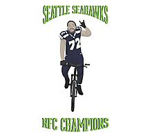 Michael Bennett Does a Victory Lap Photographic Print