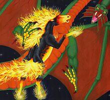 Nightmare VS Shivan Dragon by Celinda