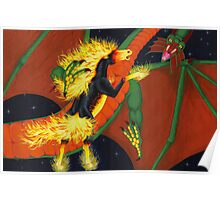 Nightmare VS Shivan Dragon Poster