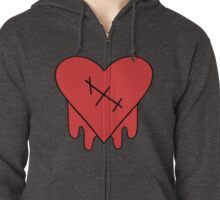 Gravity Falls - Robbie V's Edgy on Purpose heart Zipped Hoodie