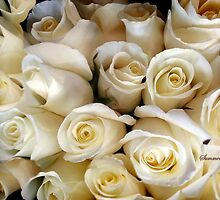 Candle Light Bouquet ~ White Roses by SummerJade