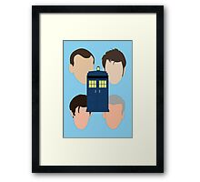 The Faces Of The Doctor Framed Print