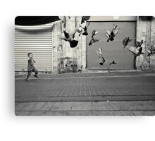 happy runner Canvas Print