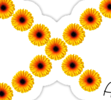 Alpha Phi Flower Infinity Sticker