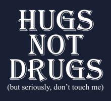 Hugs Not Drugs, Black by Marissa Suto