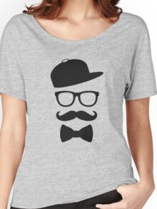 mustace eyes black glass swag Women's Relaxed Fit T-Shirt