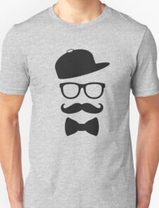 mustace eyes black glass swag T-Shirt