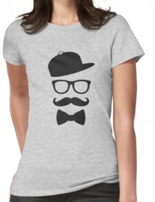 mustace eyes black glass swag Womens Fitted T-Shirt