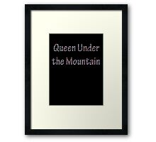Queen Under the Mountain - Nebula Framed Print