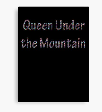 Queen Under the Mountain - Nebula Canvas Print