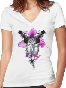 Guns Are Drawn Women's Fitted V-Neck T-Shirt