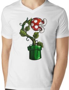 Pakku Flower Mens V-Neck T-Shirt