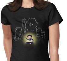 Late Night Reading big Womens Fitted T-Shirt