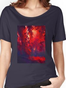 Red autumn leaves Women's Relaxed Fit T-Shirt