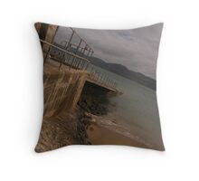 Lifeboat bay Throw Pillow