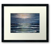 """Lahinch by Moonlight"" Framed Print"