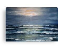 """Lahinch by Moonlight"" Canvas Print"