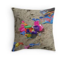 Forgotten Toys Throw Pillow