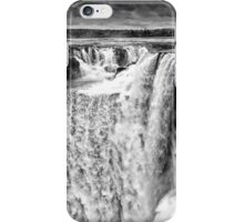 Iguazu Falls - Over the Edge - in Monochrome iPhone Case/Skin