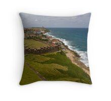 Puerto Rico Coastline Throw Pillow