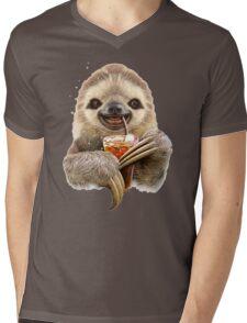 SLOTH & SOFT DRINK Mens V-Neck T-Shirt
